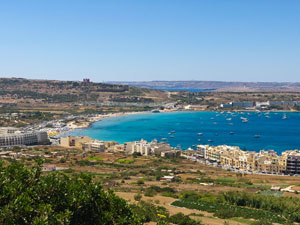 Mellieha Bay from the town